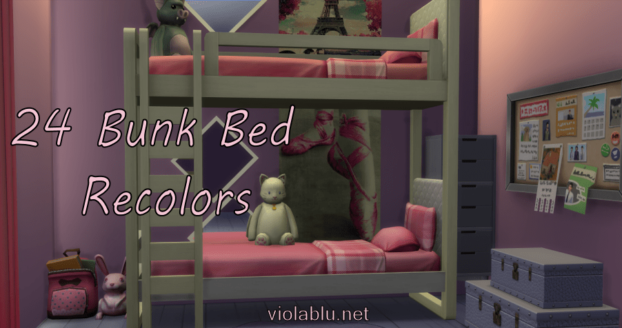 Viola's 24 Bunk Bed Recolors for Sims 4