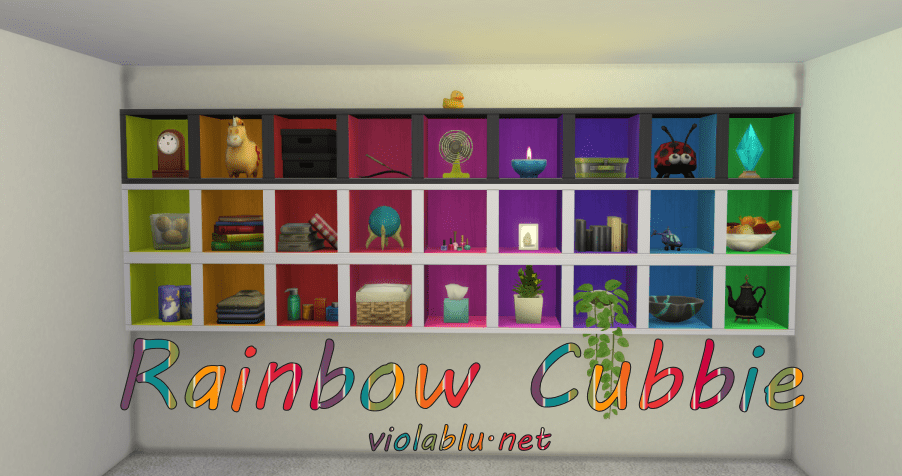 Rainbow Cubbies for Sims 4
