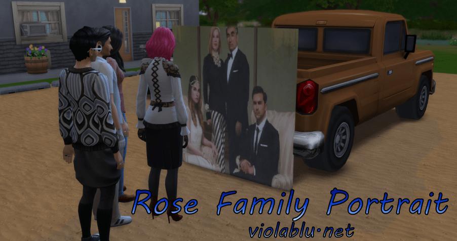 Rose Family Portrait, Schitt's Creek, for Sims 4