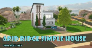 Viola's Arid Ridge Simple House for Sims 4
