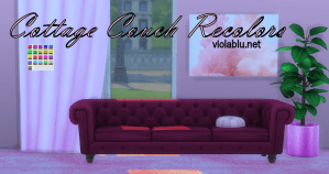 Cottage Couches Recolored for Sims 4