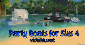Party Boats for Sims 4