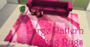 Viola's Large Pattern Shag Rugs for Sims 4