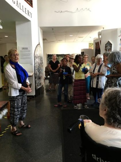 Opening remarks by Mary Harvey, Founder & Director of Violence Transformed at INSIDER/OUTSIDER NATION reception at Roxbury College's Resnikoff Gallery, Media Arts Center