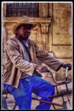 "Carlos Byron, ""Havana Cuba Cyclist,"" photography, 19 1/2"" x 29 1/2"", Spring 2017"