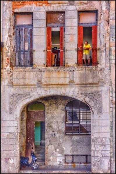 "Carlos Byron, ""Man In The Yellow Shirt, Havana,"" photography, 19 1/2"" x 29 1/2"", Summer 2017"
