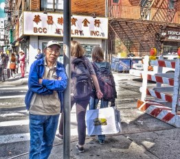 """Carlos Byron, """"NYC Chinatown, The Observer,"""" photography, 7 1/2"""" x 6 1/2"""", Fall 2015"""