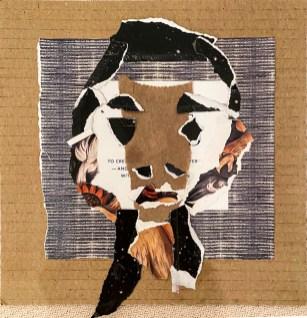 """Carol Daynard, """"Black Lives Matter,"""" Paper collage, 8"""" x 11"""", 2021"""
