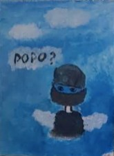 """N.M., """"In the Clouds,"""" Painting, 16"""" x 20,"""" 2021"""