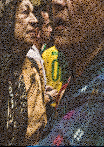 "Walter Crump, ""Two Women, Louvre,"" Archical inkjet print, 2021"