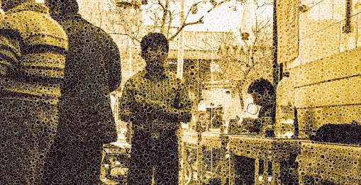 "Walter Crump, ""Cafe, Tehran,"" Archival inkjet print, 2021"