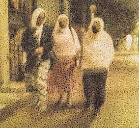 "Walter Crump, ""Night Stroll, Boston,"" Archival inkjet print, 2021"