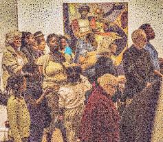 "Walter Crump, ""Gathering, Boston,"" Archival inkjet print, 2021"