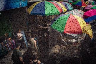 "Walter Crump, ""Umbrellas, Bali,"" Archival inkjet print, 2021"