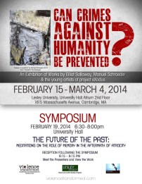 2014 Exhibition Poster, Lesley University