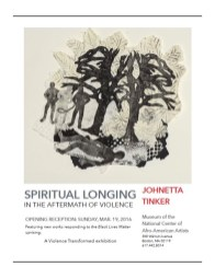 2016 Exhibition Poster, Museum of the National Center of Afro-American Artists
