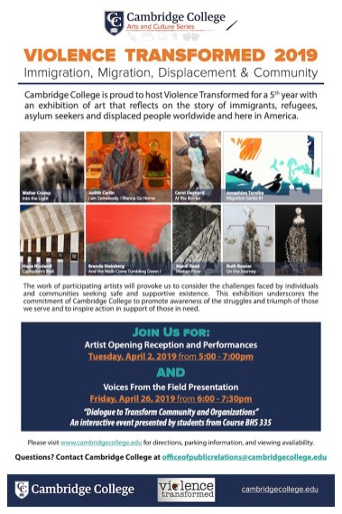 2019 Exhibition Poster, Cambridge College
