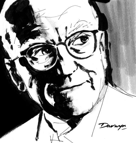 Donald Westlake as drawn by Darwyn Cooke
