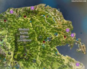 BDO Media North Horse Locations Map