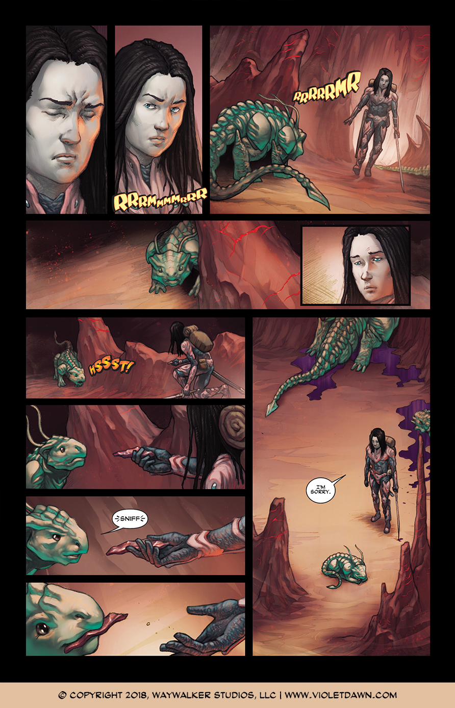 Violet Dawn: Exile – Issue 1, Page 4