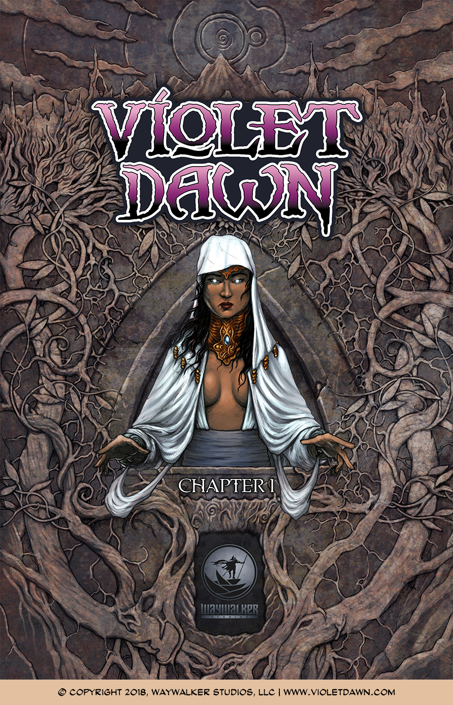 Violet Dawn: Exile – Issue 1, Cover
