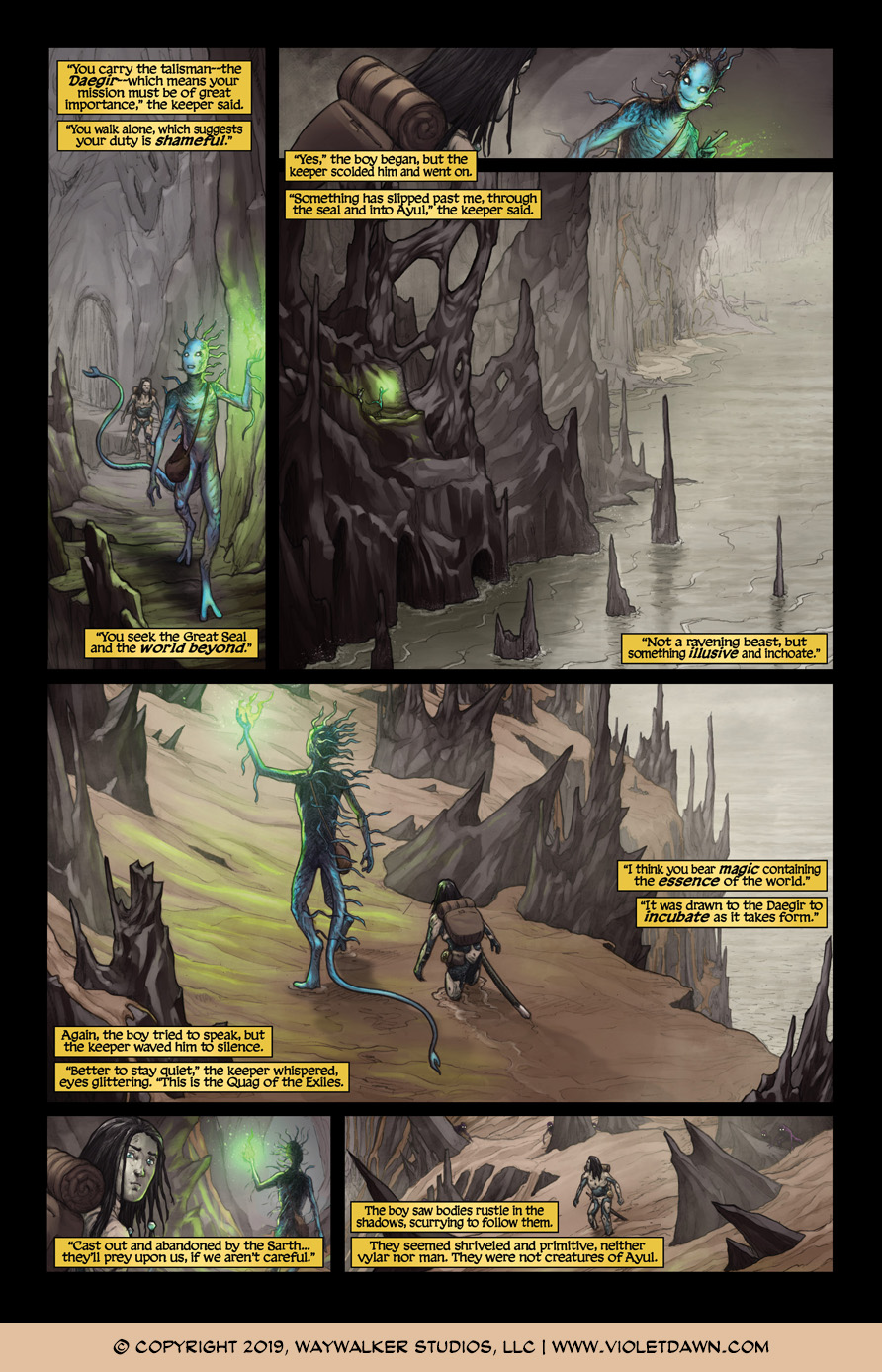 Violet Dawn: Exile – Issue 3, Page 4