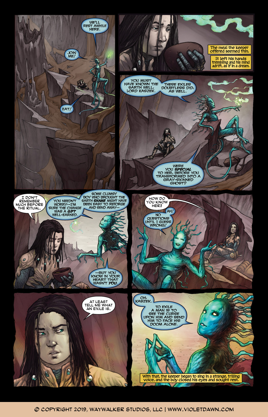 Violet Dawn: Exile – Issue 3, Page 5