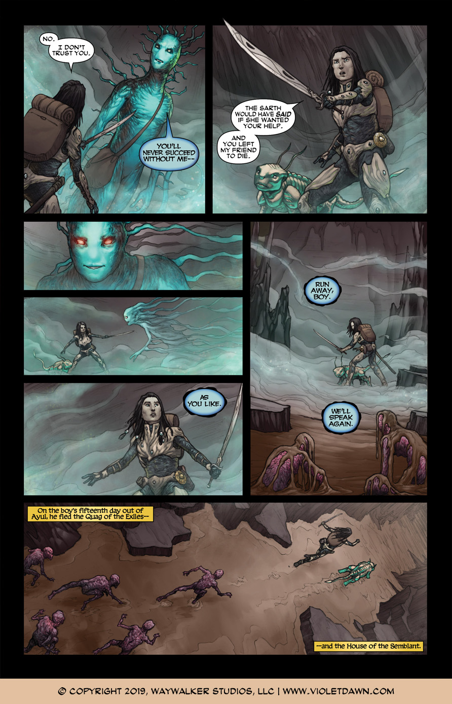 Violet Dawn: Exile – Issue 3, Page 10