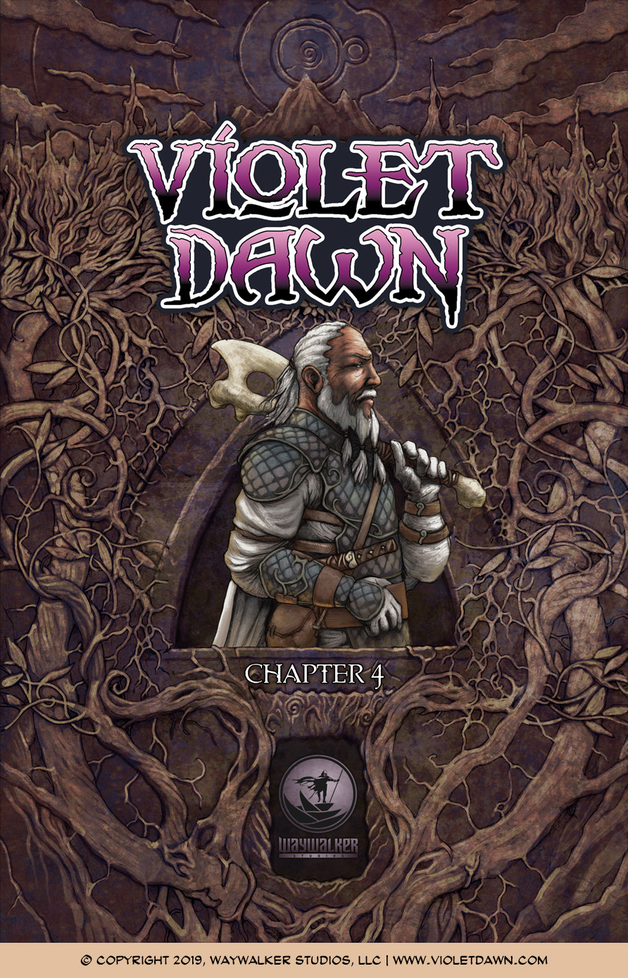 Violet Dawn: Exile – Issue 4, Cover