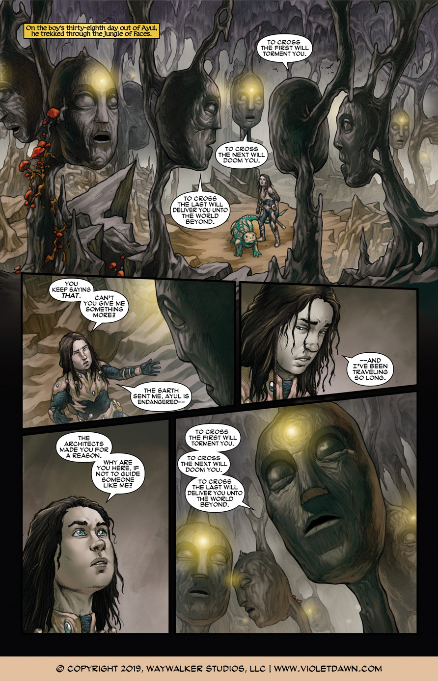 Violet Dawn: Exile – Issue 5, Page 1