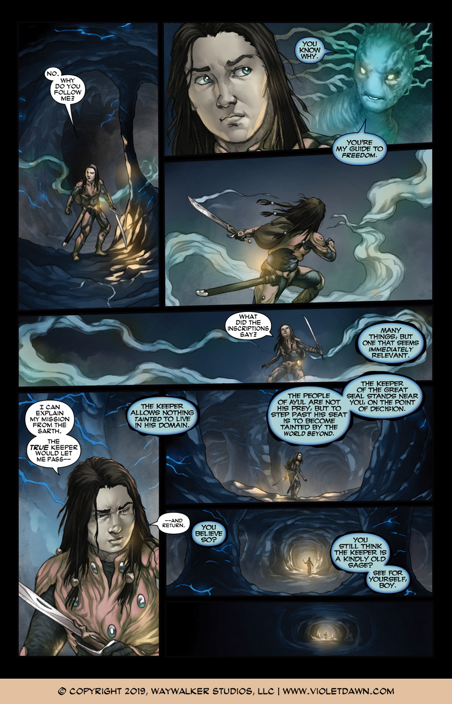 Violet Dawn: Exile – Issue 5, Page 10