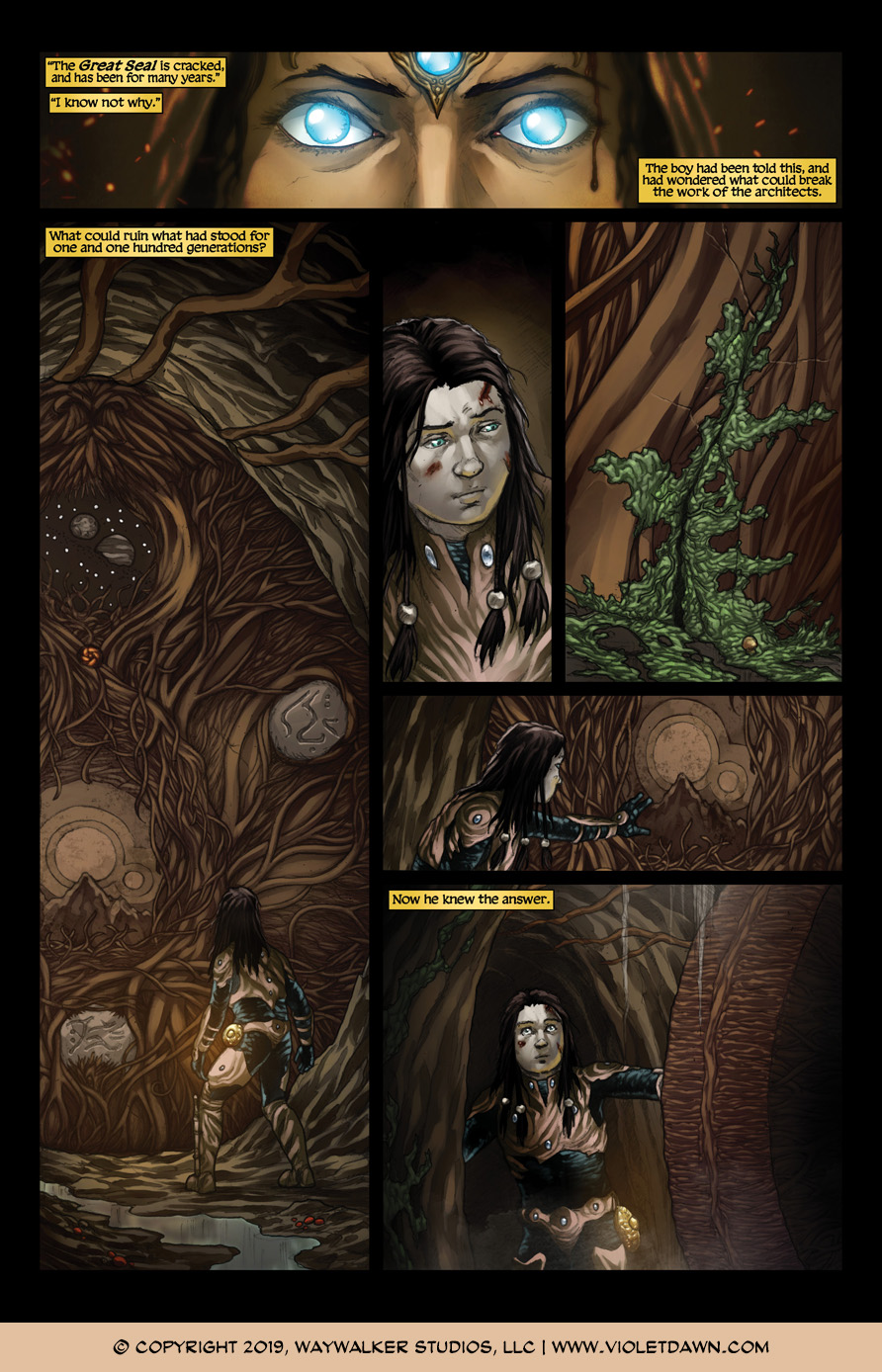 Violet Dawn: Exile – Issue 7, Page 1