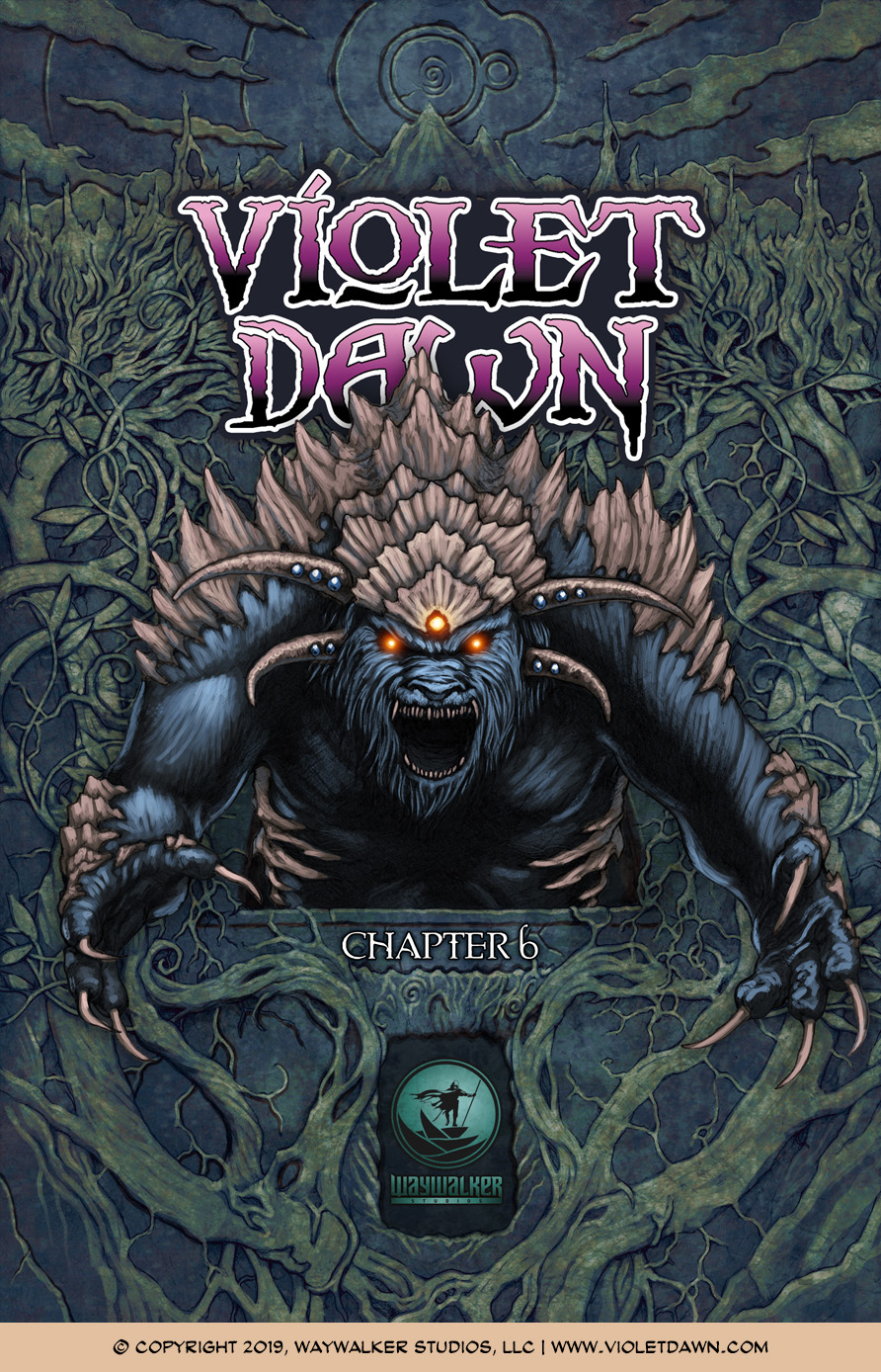 Violet Dawn: Exile – Issue 6, Cover