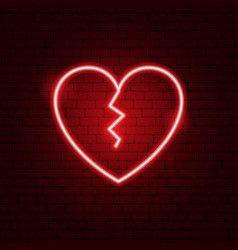 Neon broken heart