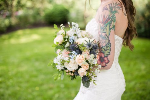 Bridal Bouquet Portrait