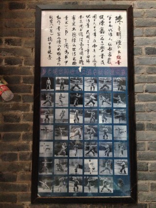 Grandmaster Chen Ziming's writing and Tai Chi postures