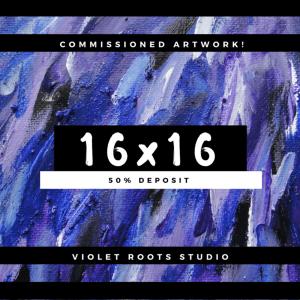 16x16 Custom Canvas Panel   Abstract Art - DEPOSIT