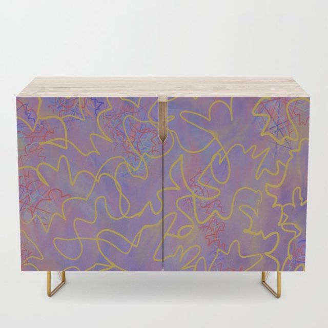Shop Violet Roots - Abstract Credenza - Fancy