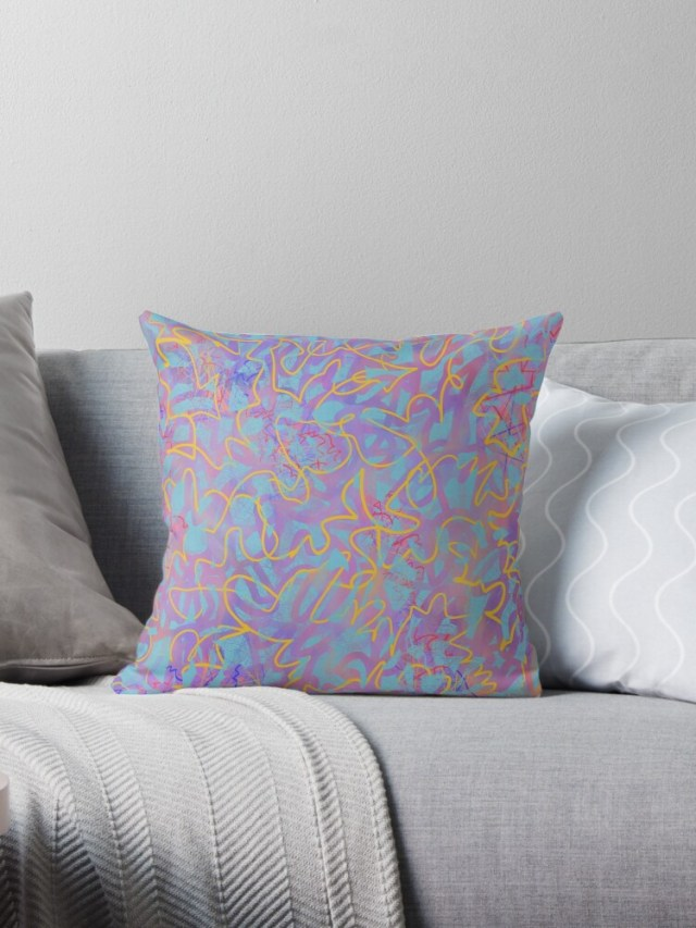 Abstract Throw  Pillow - Feel Special