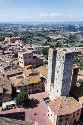 medieval town of San Gimignano, Tuscany,