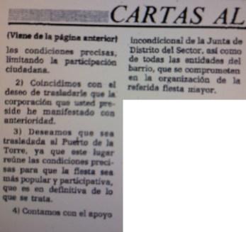 19841204 - Publicado. Fiesta Mayor 23