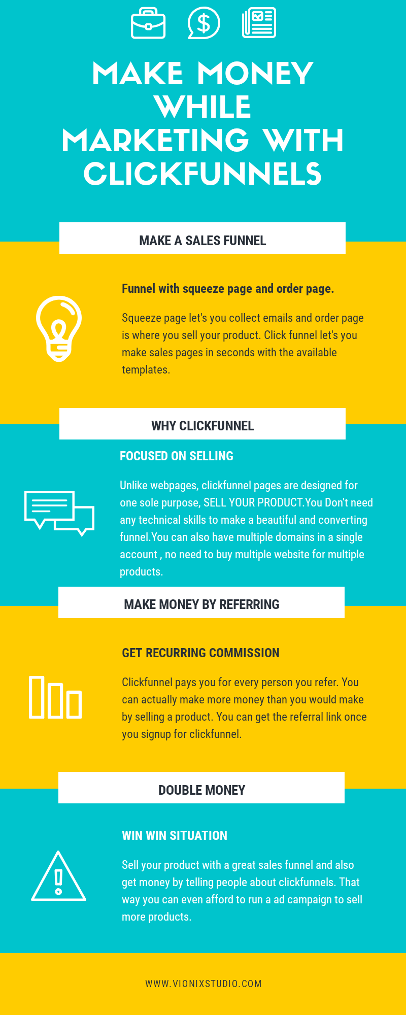 Clickfunnel advantages infographics