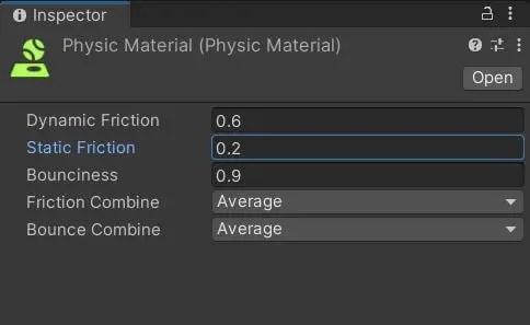 Physics Material properties.