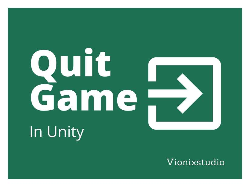 Quit a game in Unity
