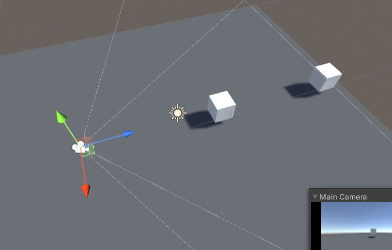 Raycast demo object setup