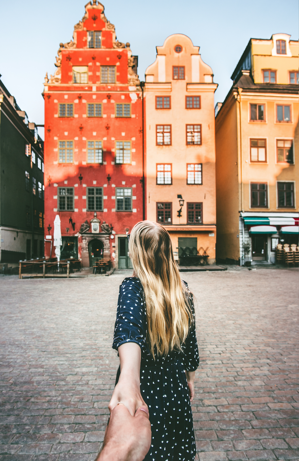 Travel Images - Girl Walking to Building