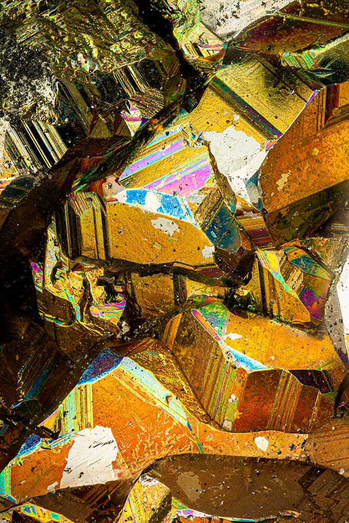 """Macro Shot of Pyrite """"Fool's Gold"""" Crystal Formation"""