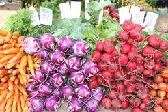 Frisches Gemüse gibt es auf dem Bio-Wochenmarkt am Dupont Circle