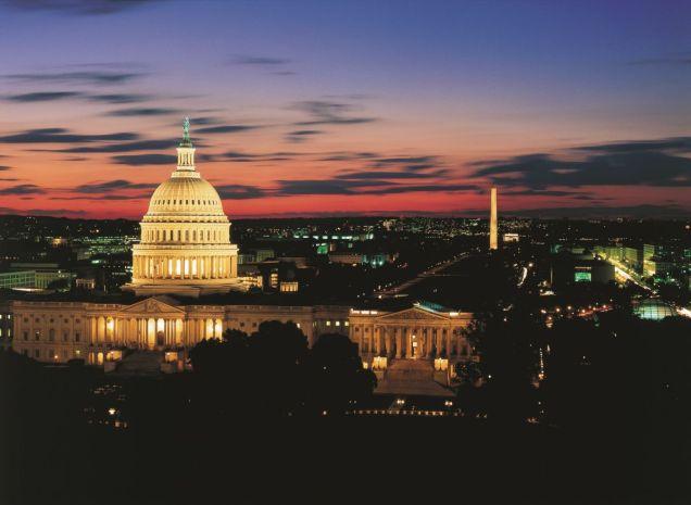 Wenn es abends wird am Capitol erwacht die Restaurant-Szene der US-Hauptstadt.