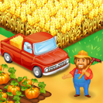 Farm Town Happy farming Day & food farm game City mod apk (endless diamonds and gold) v3.26
